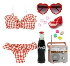 """""""A Coca Cola Kid"""" by doe-eyed-nymphet ❤ liked on Polyvore featuring Laurence Doligé, Forever 21, CO, H&M, nymphet and nymphetfashion Rockabilly Fashion, Lolita Fashion, Aesthetic Indie, Aesthetic Clothes, Lana Del Rey Outfits, Retro Outfits, Ideias Fashion, Summer Outfits, Home Decor Accessories"""