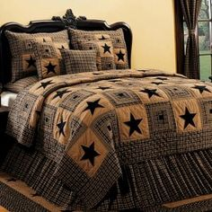 "We call this our ""Vintage Star Quilt Collection"".  I could see this decor either 100 years in our future or past."