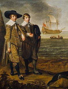 1633 Jan Daemen Cool - A Dutch Family Group (Portrait of Two Boys)