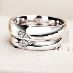 Personalized Half Heart Shaped Promise Rings by onlyuniquegifts