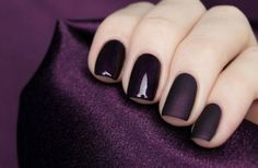 Dark nails Winter's answer to a neutral hand.