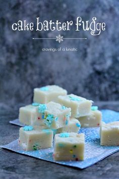 Cake Batter Fudge Recipe ~ Says: Perfect microwave fudge that will be a hit with all your friends and family this holiday season!