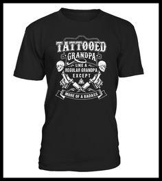 Tattooed grandpa More of a badass (*Partner Link) Tattoo Shirts, Dad Tattoos, Badass, Mens Tops, T Shirt, Link, Fashion, Supreme T Shirt, Moda