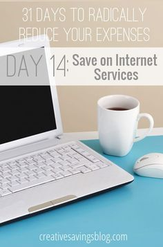 Say goodbye to sky-high internet services and learn how to take advantage of better rates! These 5 ideas will help you slash costs, and eliminate excess spending. Be sure you haven`t fallen into the trap of #4! {31 Days to Radically Reduce Your Expenses, Day 14}