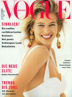 80s-90s-supermodels: Vogue Germany, May 1990Model : Claudia Schiffer