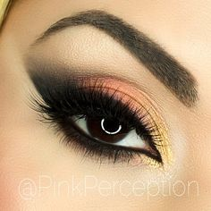 https://www.facebook.com/pinkperception/photosToday's #eotd LBD gel liner from @motivescosmetics smudged with corrupt eyeshadow from @makeupgeekcosmetics , lid is crush , inner corner is streets of gold, both from @wildlynatural , highlight is white frost from #Mac , lashes are pixie Luxe from @houseoflashes , brows are Eva from @browrehab brushes used are from @morphebrushes