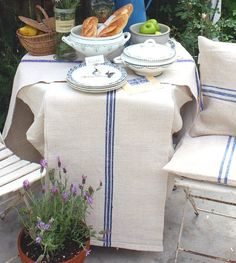 Organic hemp grainsack table runner. I have one of these on my table ...