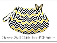 Sew the Pleated Chevron Shell Clutch Free Sewing Pattern