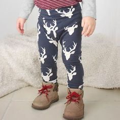Learn how to sew DIY Baby and Toddler leggings using a pair of PJ pants as a pattern!