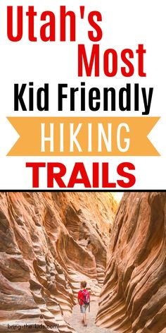 Looking for some great hikes with kids in Utah?  We'll show you the best kid friendly hikes in Utah all over the state.  Whether you want to take your kids on a hike in the mountain, or introduce your kids to desert hiking, we've got the best Utah hiking trails for kids all in one place.  Hiking with kids in the Utah is one of the best outdoor adventures for families and one that all ages can enjoy! Hiking Site, Utah Hiking Trails, Utah Camping, Utah Hikes, Utah Adventures, Outdoor Adventures, Utah Vacation, Vacation Ideas