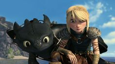 Astrid and Toothless trying to find Hiccup