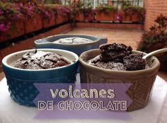Exquisito Volcán de Chocolate en el Microondas! Dog Bowls, Caramel, Cereal, Muffins, Sweet Treats, Pudding, Cupcakes, Sweets, Mugs