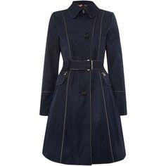 Dawn Levy Rain Coat ($53) ❤ liked on Polyvore featuring outerwear, coats, clearance, natural, mac coat, long sleeve coat, trench raincoat, rain trench coat and rain coat