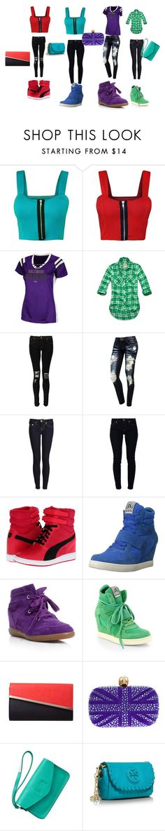 """""""Untitled #40"""" by prodigybaby-redswag ❤ liked on Polyvore featuring Papermoon, Hollister Co., Boohoo, True Religion, 7 For All Mankind, Puma, Ash, Isabel Marant, Alexander McQueen and Gap"""