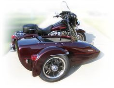 I'd rather drive the motorcycle than this side car, but to each her own. This maroon motorcycle is killing 'em though!