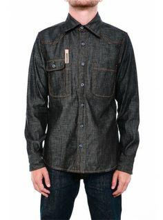 639a79def7 Tellason Topper Denim Shirt Cone Mills White Oak denim work shirt. 100%  Made in