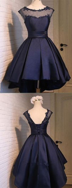 Elegant Prom Dresses, Short Ball Gown Navy Blue Homecoming Dress satin homecoming dress sweet 16 birthday party gowns Shop for La Femme prom dresses. Elegant long designer gowns, sexy cocktail dresses, short semi-formal dresses, and party dresses. Classy Homecoming Dress, Navy Blue Homecoming Dress, Junior Homecoming Dresses, Cute Prom Dresses, Elegant Prom Dresses, Dresses Short, Sweet 16 Dresses, Sweet Dress, Classy Dress