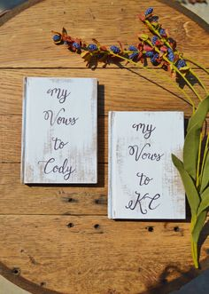 rustic vow books  woodland wedding vows books country