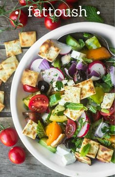 Fattoush is a vibrant Middle Eastern Salad made with chunky fresh veggies, crisp…