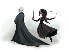 Hehe. Everyone knows Bellatrix was totally in love with Voldemort.