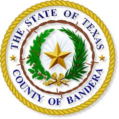 The State of Texas Bandera County Seal