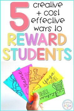 Say goodbye to the treasure box and hello to these 5 creative, cheap, and fun rewards for kids! Student Rewards, Student Behavior, Classroom Behavior, Special Education Classroom, Elementary Education, Behavior Goals, Classroom Incentives, Classroom Economy, Classroom Environment