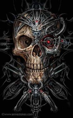 """Bio Skull"" by Anne Stokes ☠️"