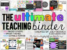 Create, Teach, and Share: The ULTIMATE Variety Cover Teaching Binder