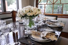 Penthouse dining room is lovely with Kate Spade china.  What a great vacation rental in Telluride.