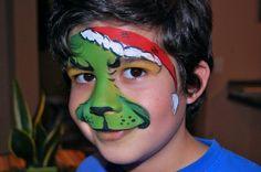 Grinch face paint