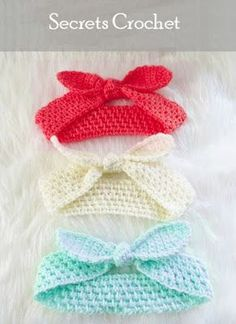 Headband, Crochet Pattern - Secrets Crochet