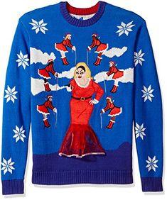 black Blizzard Bay Mens Jesus Santa Christmas Dragon Ugly Christmas Sweater Large