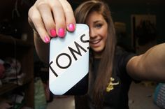 TOMS phone case! I WANT IT! Drink Sleeves, Phone Case, Tech Companies, Toms, Company Logo, Phone Covers, Phone Cases