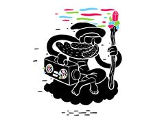 Just a wizard rockin' out to some trippy beats // MUTI Gif Pictures, Moving Pictures, Motion Design, Motion Graphics, Trippy, Animated Gif, Psychedelic, Illustration Art, Character Design