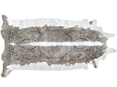 Mineheart Super Long Persian Blue & Brown Cowhide Rug by Young & Battaglia - Chaplins