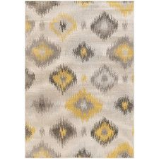 Septfontaines Beige & Gold Area Rug