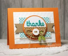 Thanks by Jen Shults using DS164  Great colours, sweet sweet card.