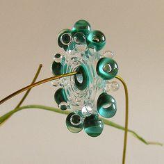 Teal+Beads+Handmade+Lampwork+Beads+Supplies+by+Rachelcartglass,+$23.00