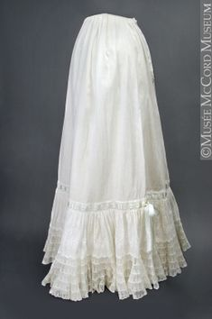 Petticoat  About 1900  This would look great peaking out under a long skirt...Definitely want one