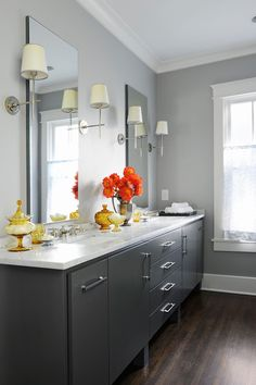 Gray color schemes for kitchens best gray paint colors cool modern on creative home decoration ideas Grey Bathroom Paint, Best Bathroom Paint Colors, Painting Bathroom Cabinets, Bathroom Color Schemes, Grey Bathrooms, Master Bathroom, Neutral Bathroom, Modern Bathroom, Bathroom Beadboard