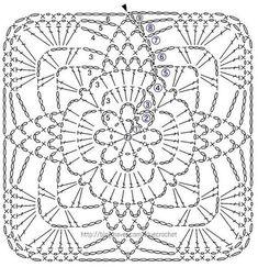 Transcendent Crochet a Solid Granny Square Ideas. Inconceivable Crochet a Solid Granny Square Ideas. Crochet Motif Patterns, Granny Square Crochet Pattern, Crochet Blocks, Crochet Diagram, Crochet Chart, Crochet Squares, Thread Crochet, Crochet Designs, Granny Squares