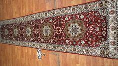 Hand knotted silk rug # Rug No.: P4289 # Quality: 150L (156kpsi) # Size: 2.5x12ft (76x366cm) # Material: Artificial Silk # wholesale Price: $480/piece # If you have any interests, please email to sales@bosicarpets... Hand-madecarpet#orienatlrug#oldrug#Kashmirrug#Chinacarpet#Iraniancarpet#boteh#HeratiGul# Isfahan#Tabriz#Qum#Nain#Kashan#Kerman#Bijar#Sarouk#Caucasian#antiquecarpet#bosicarpet