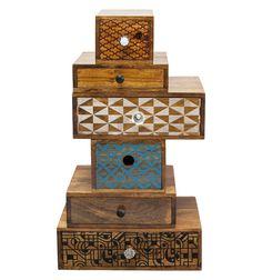Cassettiera Decorativa Tower Soleil (Set/6) 72 cm Kare Design