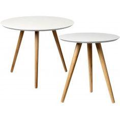 retro couchtisch rund Ø80cm coffeetable massivholz sheesh, Moderne