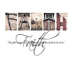 Faith-alphabet art photography