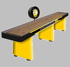 For the basement :) Hawkeyes Shuffleboard Table