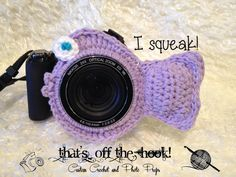 SQUEAKY Camera Lens Buddy   Fish by ThatsOffTheHook on Etsy, $18.00