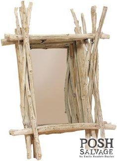 Faux driftwood mirror