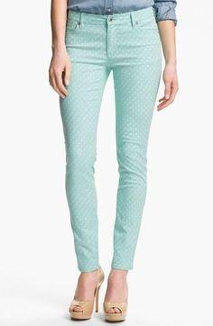Obsessed! Mint Polka Dot Jeans