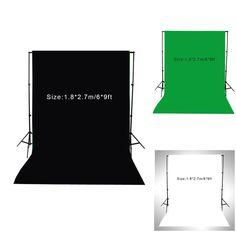 Cheap Nuevo 1.8 * 2.7 m / 6 * pies fotografía telón de fondo de pantalla algodón muselina Video foto iluminación del estudio de fondo verde / blanco / negro, Compro Calidad Fondos directamente de los surtidores de China:          1.8*2.7 m/6 * pies PANTALLA FOTOGRAFÍA telón de fondo de